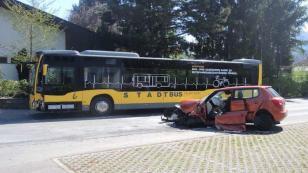 Feldkirch'de korkutan kaza; 1 ağır yaralı!