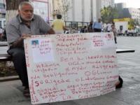 G.Antep-Kayıp çocukları için grev başlattı !