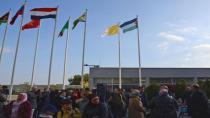 Filistin bayrağı BM Viyana Ofisi'nde göndere çekildi