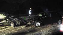 A14 otobanında iki ayrı kaza trafiği felç etti!