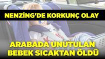Arabada unutulan bebek sıcaktan öldü!
