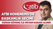 ATİB Hohenems'de başkanlık seçimi!