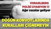 Vorarlberg Polisi'nden 'düğün konvoyları' uyarısı!