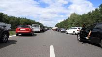 Verkehrsunfall auf der A 14