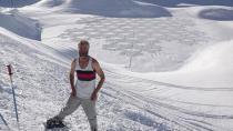 Kar üzerinde bıraktığı iz hayranlık uyandırıyor!
